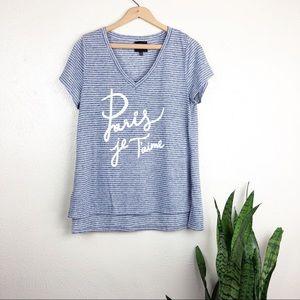 Anthro W5 Paris Je T'aime Graphic Tee Shirt